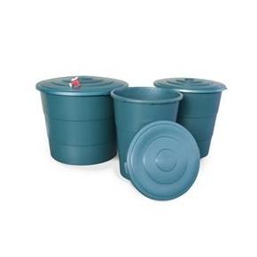Deposito Redondo verde 500L (94x101,5cm)