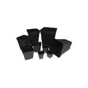 Maceta cuadrada 15x15x20  3,5L Negra (180/2700)