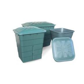 Deposito Cuadrado verde 300L  (77x62x83)cm)