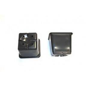 Maceta cuadrada 9x9x10 negra Termof  0,52L (1272)