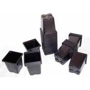 Maceta cuadrada 13x13x13  2L Negra (336)